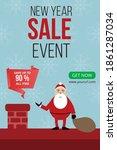 new year sale design  christmas ... | Shutterstock .eps vector #1861287034