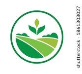 green plantation farm estate...   Shutterstock .eps vector #1861303027