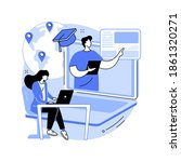 global online education... | Shutterstock .eps vector #1861320271