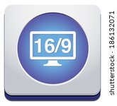 16 9 display icon | Shutterstock .eps vector #186132071