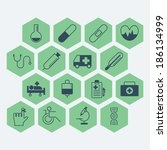 medical icons | Shutterstock .eps vector #186134999
