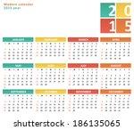 Flat Calendar For 2015 Year