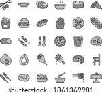thin line gray tint vector icon ... | Shutterstock .eps vector #1861369981