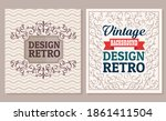 bundle of two vintage banners...   Shutterstock .eps vector #1861411504
