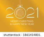 merry christmas and happy new... | Shutterstock .eps vector #1861414801