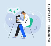 medical doctor studying... | Shutterstock .eps vector #1861415641