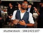 Stylish African American Man...