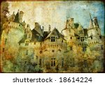 Usse - fairy castle Loire' valley- picture in painting style - stock photo
