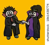 couple of vampires on the... | Shutterstock .eps vector #1861438774