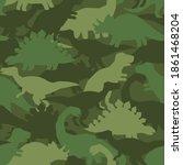 Dinosaur Khaki Army Pattern....