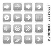 16 arrow icon set 01. white...