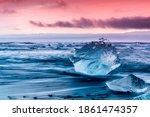 An Iceberg Along The Shore Of ...