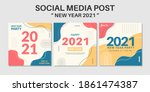 2021 happy new year social... | Shutterstock .eps vector #1861474387