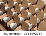 Warehouse Of White Mugs In...