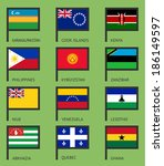 flags of the world  flat vector ... | Shutterstock .eps vector #186149597