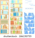 set of bookcases | Shutterstock .eps vector #186150755