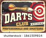 darts club vintage decoration... | Shutterstock .eps vector #1861509814