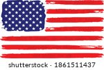 distressed usa american flag...   Shutterstock .eps vector #1861511437