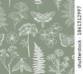 moths  butterfly and grass...   Shutterstock .eps vector #1861512997