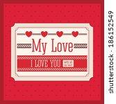 love design over pink... | Shutterstock .eps vector #186152549