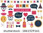 new year 2021 vector photo... | Shutterstock .eps vector #1861529161