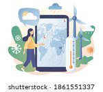 meteorology science. world... | Shutterstock .eps vector #1861551337