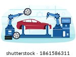 detailed process of automated...   Shutterstock .eps vector #1861586311