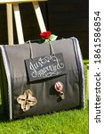 Suitcase With Beautiful Red...