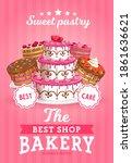 Cakes Shop Vector Bakery Promo  ...