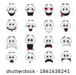 cartoon face expression... | Shutterstock .eps vector #1861638241