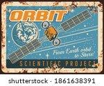 Satellite On Orbit Vector Rusty ...