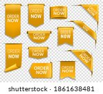 order now gold banners ... | Shutterstock .eps vector #1861638481