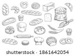bakery and pastry shop products ... | Shutterstock .eps vector #1861642054