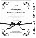 funeral vector card with... | Shutterstock .eps vector #1861642087