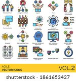 agile icons including motivated ...   Shutterstock .eps vector #1861653427