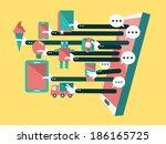 shopping online  online store... | Shutterstock .eps vector #186165725