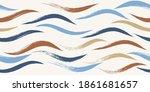 seamless wave pattern  hand...   Shutterstock .eps vector #1861681657