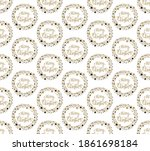 merry christmas wreath on a... | Shutterstock .eps vector #1861698184