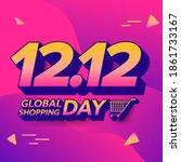 12.12 shopping day sale banner... | Shutterstock .eps vector #1861733167