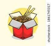 instant noodle illustration... | Shutterstock .eps vector #1861745317