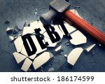 breaking debt | Shutterstock . vector #186174599