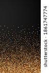 red round gold glitter luxury... | Shutterstock .eps vector #1861747774