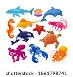 sea and ocean underwater...   Shutterstock .eps vector #1861798741