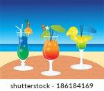 cocktails | Shutterstock .eps vector #186184169