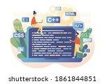programming and engineering...   Shutterstock .eps vector #1861844851