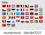 vector flags of europe with... | Shutterstock .eps vector #1861847227