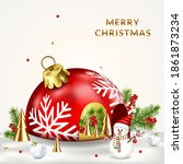 christmas background with... | Shutterstock .eps vector #1861873234