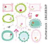 set of cute doodle frames | Shutterstock .eps vector #186188369