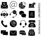 contact icon vector set... | Shutterstock .eps vector #1861884031