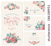 beautiful vintage wedding set.... | Shutterstock .eps vector #186188951